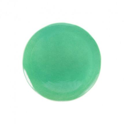 Zielony ręcznie malowany talerz MHZ0-01-04