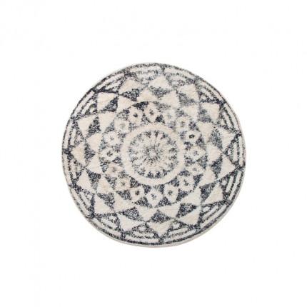 Dywan okrągły wzór etno 80 cm beżowo-szary HKliving MHD1-028