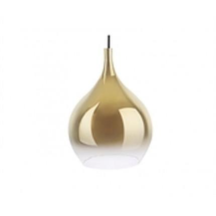 Lampa wisząca szklana złota Kropla duża MHL0-97