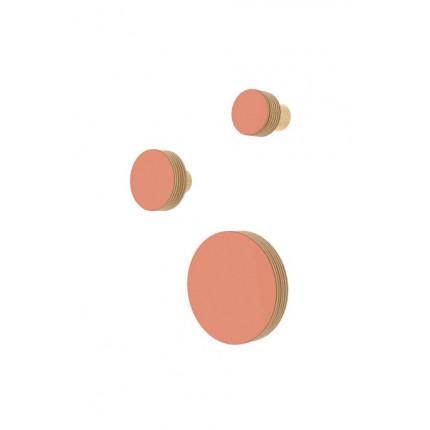 Zestaw 3 drewnianych wieszaków w kształcie koła XS, S, M MHW0-33