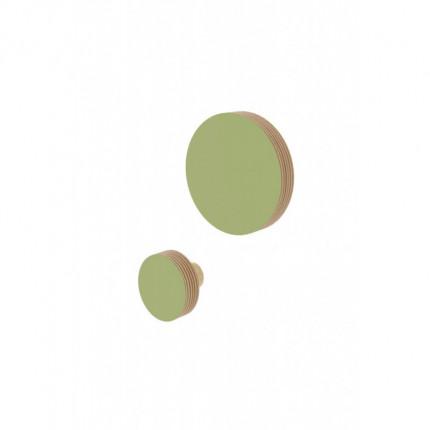 Zestaw 2 drewnianych wieszaków Nuki w kształcie koła S, M MHW0-32