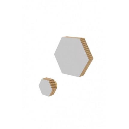 Zestaw 2 drewnianych wieszaków w kształcie heksagonu S, M MHW0-34