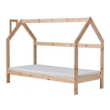 Łóżko domek 160x70 z drewna PINIO MHB 133