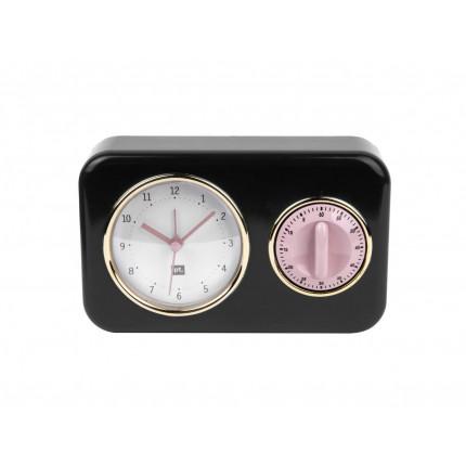 Czarny zegar z timerem MHD0-08-06