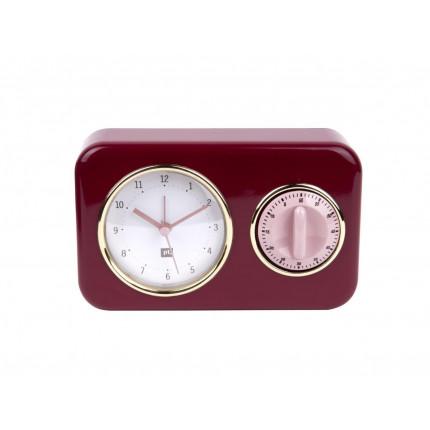 Czerwony zegar z timerem MHD0-08-07