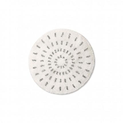 Dywan okrągły promienie czarno-biały HKliving 60 cm MHD1-00-43