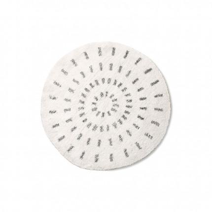 Dywan okrągły promienie czarno-biały HKliving 80 cm MHD0-00-44