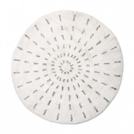 Dywan okrągły promienie czarno-biały HKliving120 cm MHD0-00-45