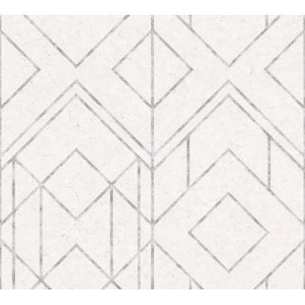 Tapeta beżowo-srebrna geometric MHT0-118