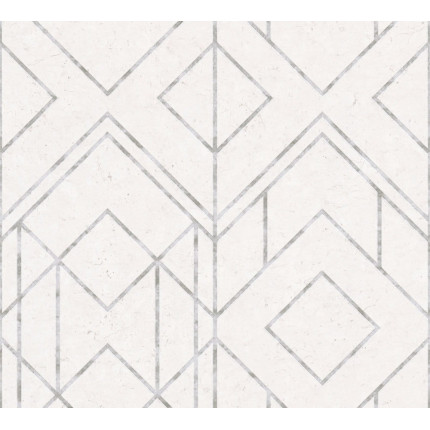 Tapeta kremowo-srebrna geometric MHT0-118