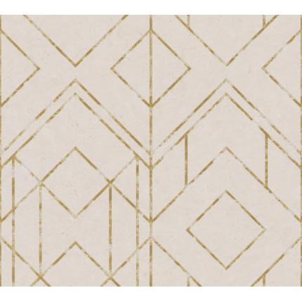 Tapeta beżowo-złota geometric MHT0-119