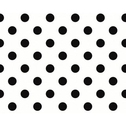 Tapeta biała w czarne groszki MHT0-122