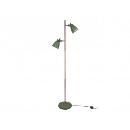 Zielona lampa podłogowa z dwoma kloszami MHL0-08