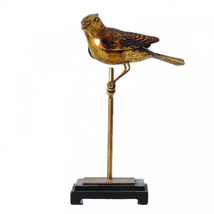 Figurka złoty ptak na stojaku wysoki MHD0-03-42