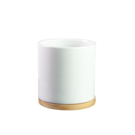 Ceramiczna, biała, skandynawska doniczka MHD0-02-167