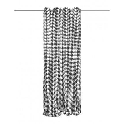 Zasłona VELVET czarno-biała pepitka 137 x 260 cm MHA0-52