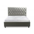 Łóżko tapicerowane glamour 160x200 cm MHB 143