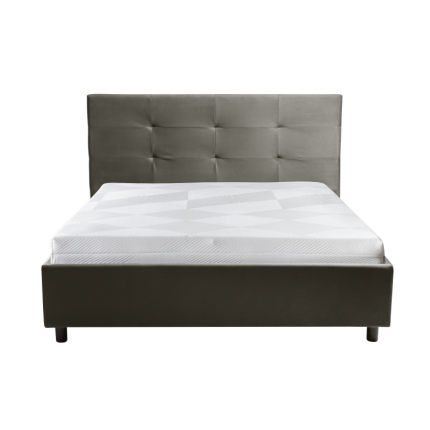 Nowoczesne dwuosobowe łóżko tapicerowane 160x200 cm MHB 144