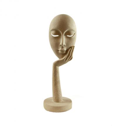 Figurka ozdobna zamyślona twarz MHD0-03-51