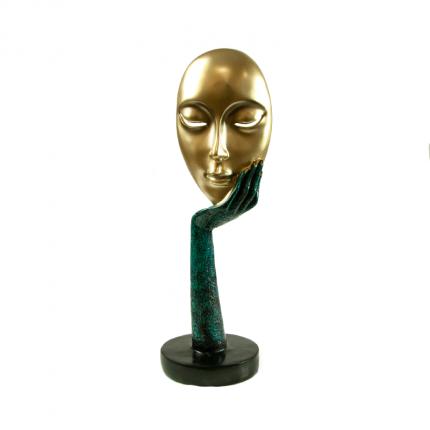 Rzeźba ozdobna zamyślona twarz MHD0-00-58