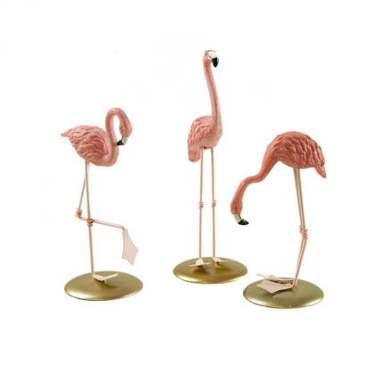 Komplet małych figurek różowe flamingi MHD0-03-64