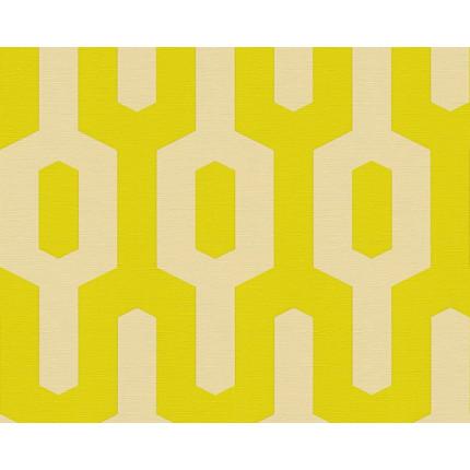 Tapeta geometryczny wzór żółta MHT0-124