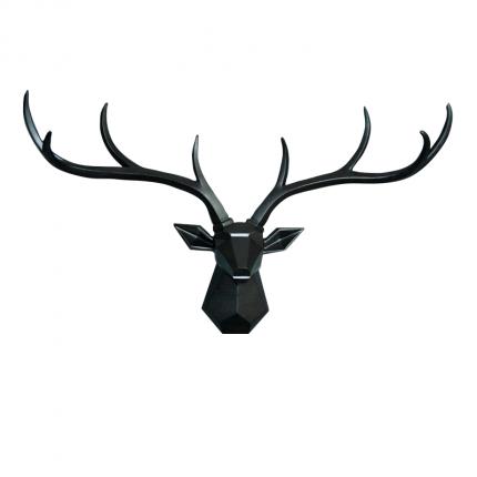 Ozdoba ścienna czarny jeleń MHD0-09-54