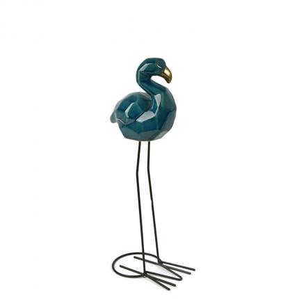 Figurka porcelanowy flaming ciemny turkus MHD0-03-47