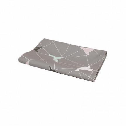 Bieżnik z motywem origami szary MHA0-03-19