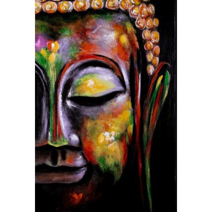 Ręcznie malowany obraz na płótnie - Budda