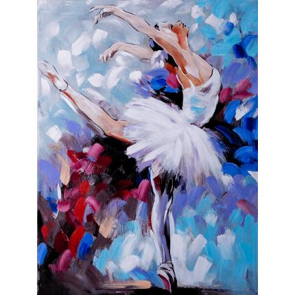 Ręcznie malowany obraz na płótnie - Baletnica