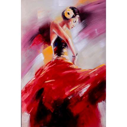 Ręcznie malowany obraz na płótnie - Tancerka Flamenco