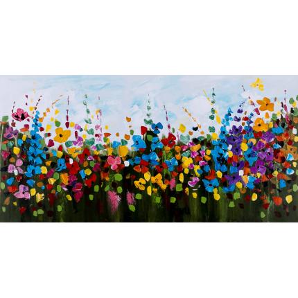 Ręcznie malowany obraz na płótnie – Kolorowa łąka