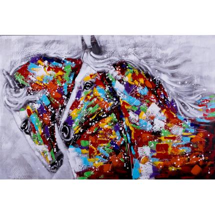 Ręcznie malowany obraz na płótnie –  Konie