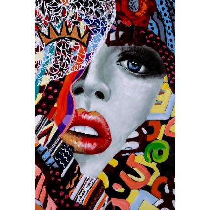 Ręcznie malowany obraz na płótnie - Kobieta Love
