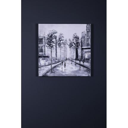 Ręcznie malowany obraz na płótnie – Miasto