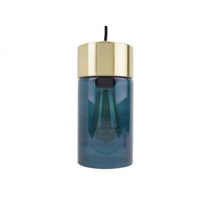 Lampa wisząca ze szklanym niebieskim kloszem MHL0-21
