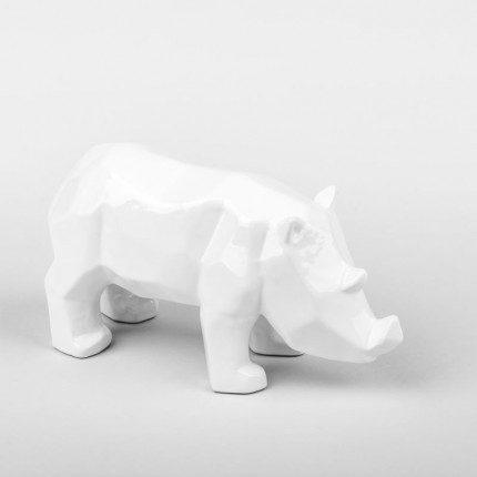 Figurka z porcelany biały nosorożec MHD0-03-6