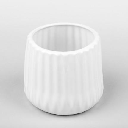 Biała osłonka ceramiczna karbowana MHD0-02-186