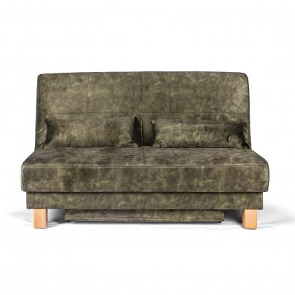 Nowoczesna sofa z funkcją spania zielona 140 cm MHT 430