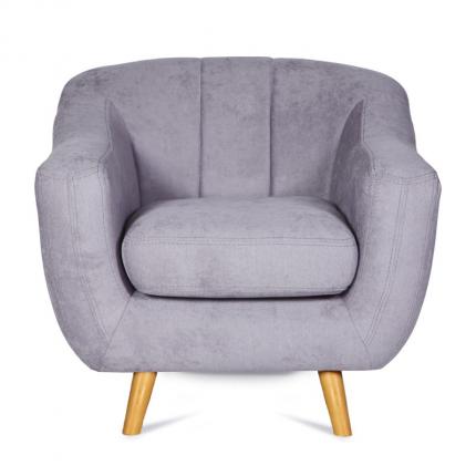 Szary fotel w stylu skandynawskim MHT 106