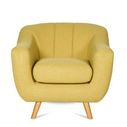 Żółty fotel w stylu skandynawskim MHT 106