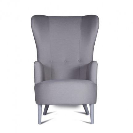 Szary wysoki fotel od ręki uszak MHT 119