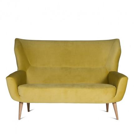 Żółta dwuosobowa sofa od ręki MHT 225