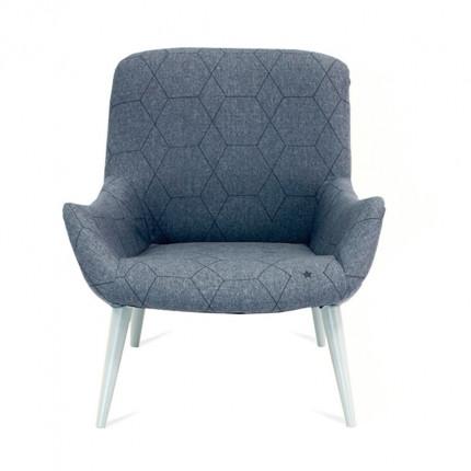 Mały niebieski fotel OD RĘKI MHT 130