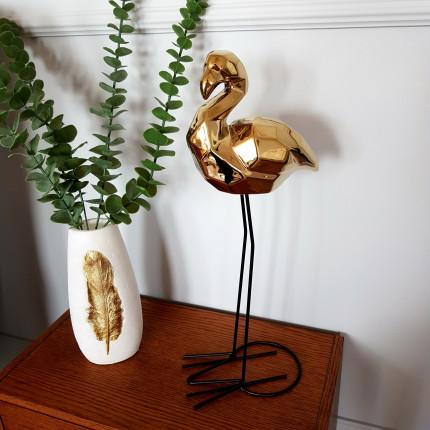 Figurka złoty flaming z pochyloną głową MHD0-03-65
