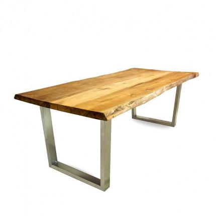 Stół tekowy z nogami ze stali nierdzewnej MHS1-05