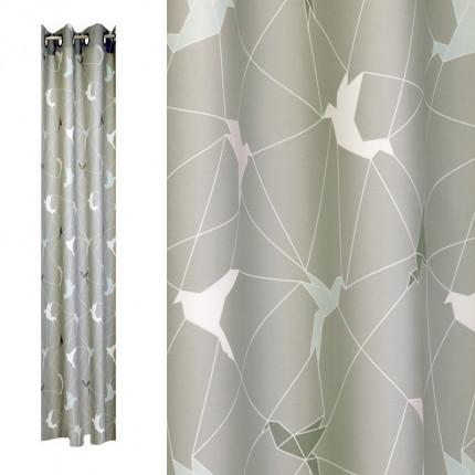 Zasłona z motywem origami 137 x 240 cm MHA0-02-10