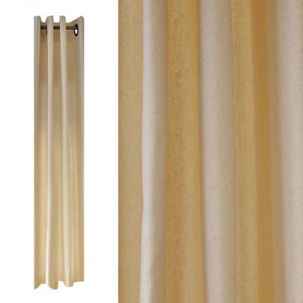 Zasłona bawełniana w kolorze jasnobeżowym 137 x 260 cm MHA0-02-17