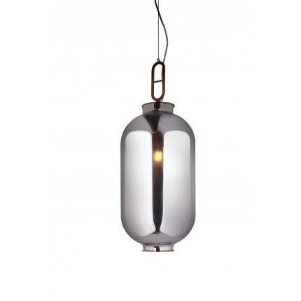Lampa wisząca lustrzana srebrna duża MHL0-35